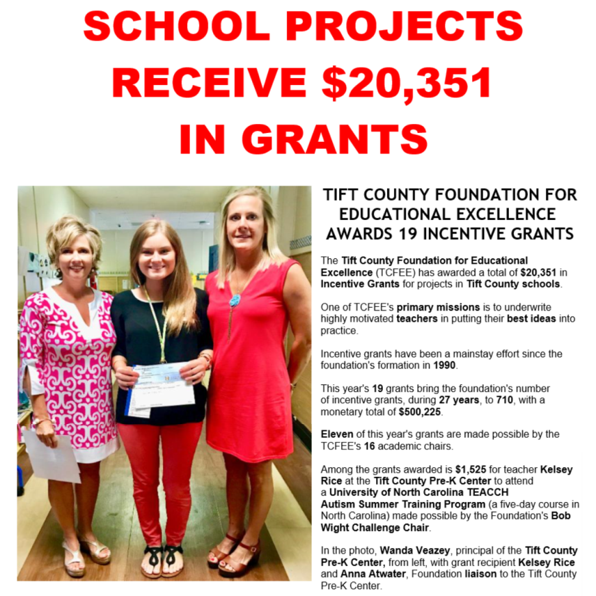 Tift County Pre-K Grants